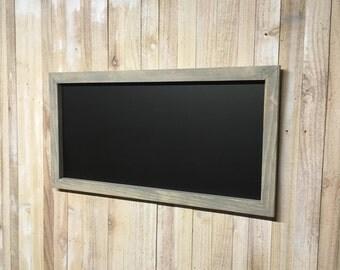"""12"""" x 24"""" Rustic Framed Chalkboard, Rustic Wedding Chalkboard, Kitchen Menu, Menu Board, Rustic Frame"""