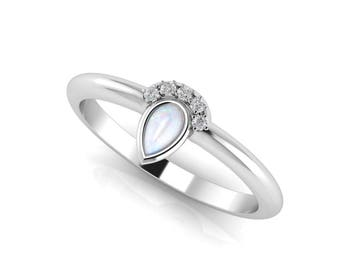 Opal ring. Opal and diamond ring, Opal engagement ring.