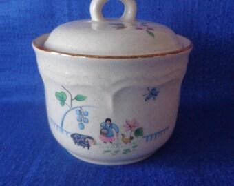 International Stoneware Heartland Sugar Bowl,Vintage Japan Sugar Bowl