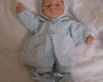 Hand knitted 8 inch outfit to fit Ashton Drake/similar dolls
