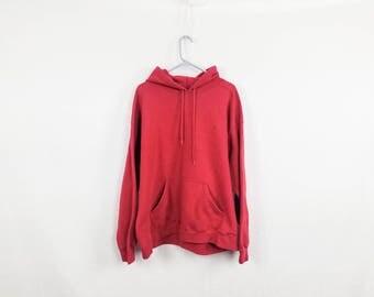 The Distressed Red Hoodie Sweatshirt