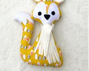 fox, baby toy, 31 x 21 cm