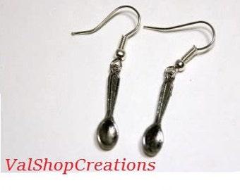 Earrings small spoon