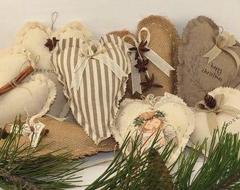 Customizable Christmas decoration-heart 14 x 14 cm