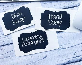 Soap Labels- Vinyl Soap Labels- Laundry Detergent Labels- Hand Soap Label- Dish Soap Label