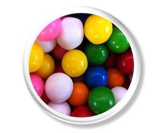 Gumballs - Kitchen Knob, Desk, Cabinet - Snack Drawer, Sweet Tooth, Novelty, Chewing Gum, Kids, Children - Pull, Drawer, Door - 115D19