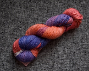 Shepherds delight SW merino nylon high twist sock yarn 4ply hand dyed skein