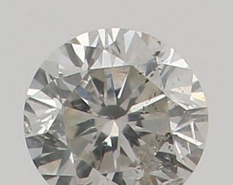 2.20 MM 0.044 Ct Natural Loose Diamond Round Shape Fancy White Color I1 K3143