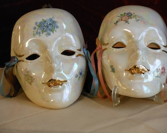 Two Mardi Gras Masks