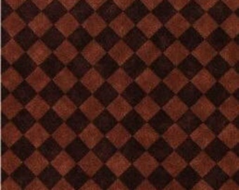 Brown Diamonds Fabric  - 100% Cotton Quilting Apparel Crafts Home decor
