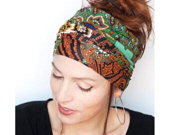 Namaste Indian Print Headband Wide Headband Yoga Headband Boho Headband Running Women Workout Headband Hair Accessories Hair Wrap Head wrap