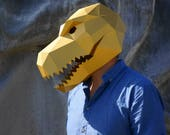 T-Rex Dinosaur Mask - make your own polygon mask