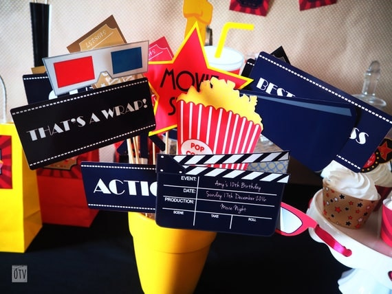 New** Movies HOLLYWOOD PHOTOBOOTH Props PRINTABLES
