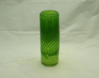 Green Vase with Spiral