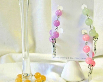 Butterfly wine glass charms - set of 4 - WG011