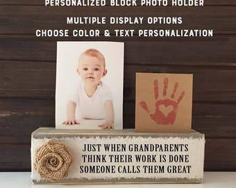 Great Grandparents Gift frame, Great Grandma personalized Gift from grandchild, great grandparent frame, someone calls you great grandparent