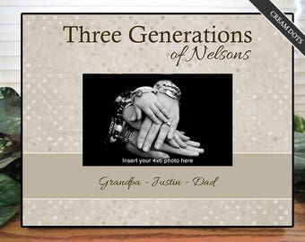 Three Generations Picture Frame | Four Generations Picture Frame | Personalized Picture Frame | Christmas Gift | Gift For Dad | Gift for Mom