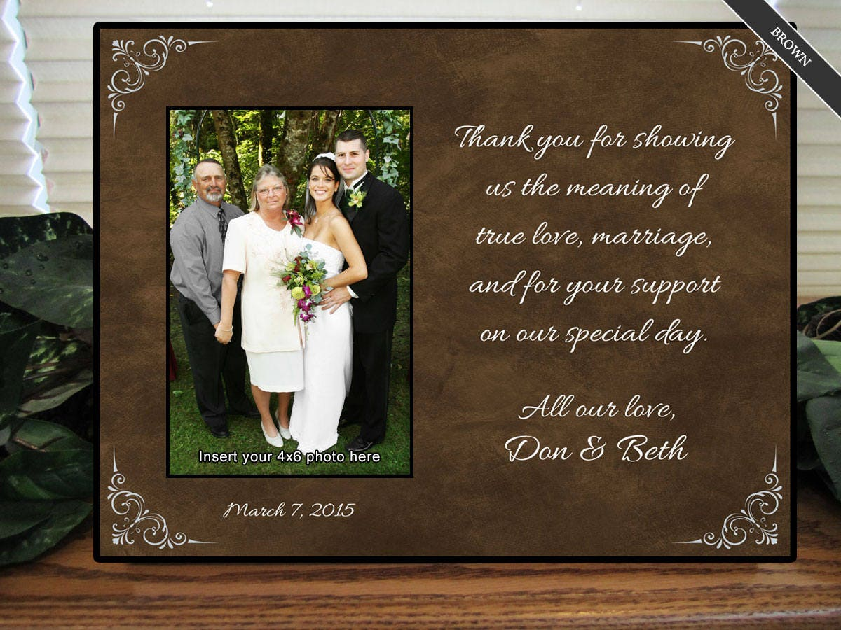 Weddings Gifts For Parents: Parents Wedding Gift Parents Of The Groom Parents Of The