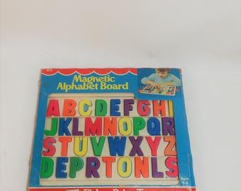 Vintage Fisher Price Magnetic Alphabet Board
