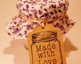 20 'made with love' mini tags for gifts and favors