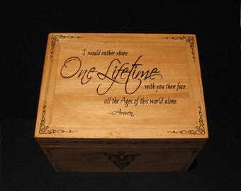 Evenstar chest,lord of the rings,evenstar box,lord of the rings,wooden chest,wood box