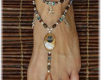Nautical Foot Jewelry • Barefoot Sandals • Barefoot Jewelry • Footless Sandal • Beach Sandals • Boho Jewelry • Tribal Jewelry