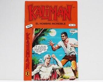 Kaliman El Hombre Increible No 96 El Asesino Invisible y Faraon Sagrado Revista en Español Spanish Comic RARE
