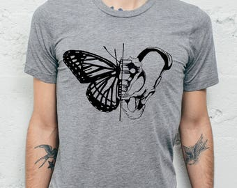 Butterfly Tee Shirt - Mens Graphic Tee // Boho Clothing - Mens Gift - Mens TShirt // Mens Animal Shirt - Animal TShirt - Animal T Shirt