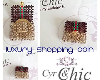 Gift for Mother's day - Luxury Inspired  Designer Miniature  Bag OPENABLE for coin for shopping-cart