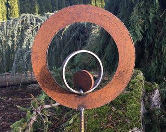 Outdoor Abstract Metal Sculpture by Cristi Mason-Rivera