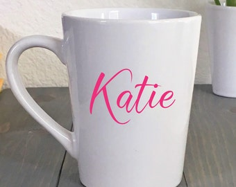 Personalized Coffee Mug - Custom Name Mugs - Personalized Tea Mug - Name Coffee Mug - Gift For Her - Christmas Gift