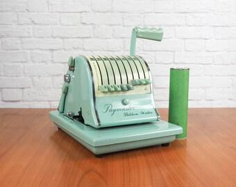 Paymaster Ribbon Writer Series 8000 Vintage Check Printer, Check Writer with Key and Extra Ribbon