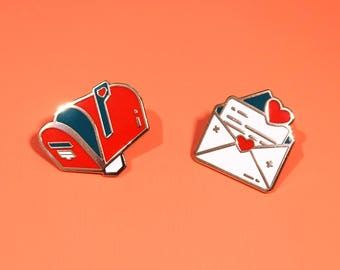 Love Letter | Enamel Collar Pins