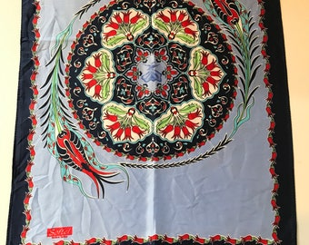 Beautiful Turkish scarf- vintage- silk scarf