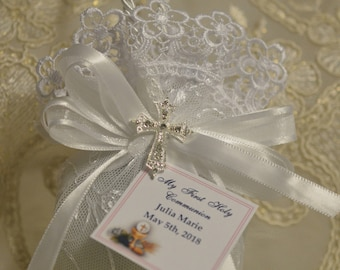Almond favors, Baptism favors  with CROSS, favors, koufeta mementos, italian favors, First Communion, confirmation  made in Italy AF1505