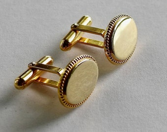 Christian Dior Gold Plated Oval Cufflinks