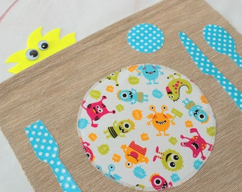 Montessori Placemat,Kids Placemat,Stocking Filler,Boy Girl Gift,Childrens  Placemat,