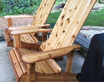 Indiana Adirondack Chair Handmade Wood Furniture Rustic Cedar patio Adirondack Chair - LOCAL PICKUP ONLY