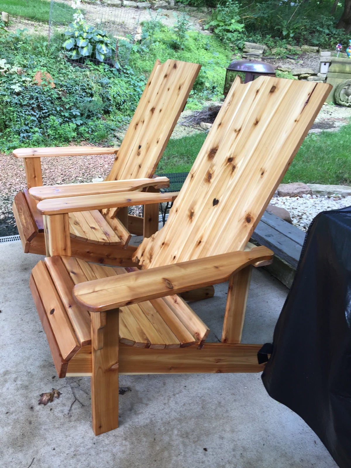 Indiana Adirondack Chair Handmade Wood Furniture Rustic Cedar