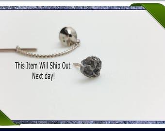 Meteorite Jewellery | tie tack | geeky gifts for him | geek dad gift ideas | nerd gifts science | husband gift ideas | gift for dad ideas