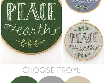 Peace On Earth Embroidery Kit {basic}