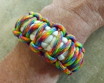 Rainbow King Cobra Paracord Bracelet