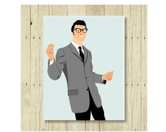 Buddy Holly Magnet, Famous Person Magent, Refrigerator Magnet, Buddy Holly Art, Gifts Under 10, Small Gift, Gift for Woman, Romantic Gift