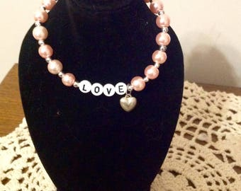 "Pink Pearl  Jewelry Set for Your 18"" Doll or American Girl Doll."