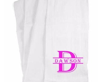 Monogrammed Hand Towel, Cotton Hand Towel, Dish Towel, Personalized Towel, Designer Tea Towel, Home and Living, Kitchen Decor