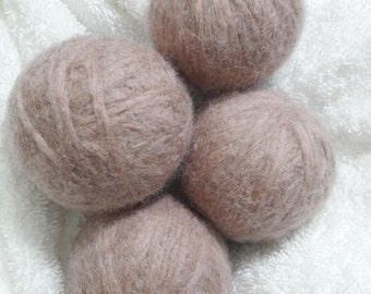 Large Felted Wool Dryer Balls 4-pack by BeesBotanics, Tumble Dryer Balls, Wool Balls for Dryer, Wool Laundry Balls, Blue Homemade Dryer Ball