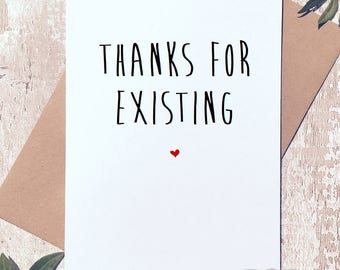 Funny greeting card, card for her, card for him, anniversary card, birthday card, funny card, love card, card for best friend, valentines