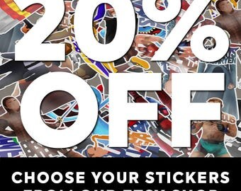 Any 4 Stickers of Your Choosing and Save 20%