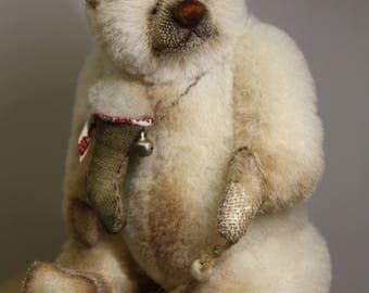 SOLD!!!!!!   Chris 24 cm   animals-stuffed- bear-interior toy-personalized teddy bear mohair