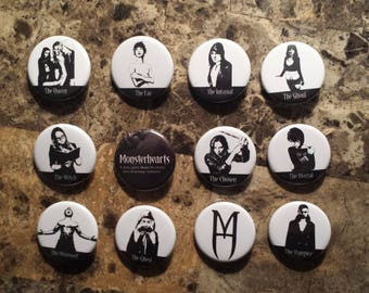 MonsterHearts Buttons (1.25 inch pinback style)